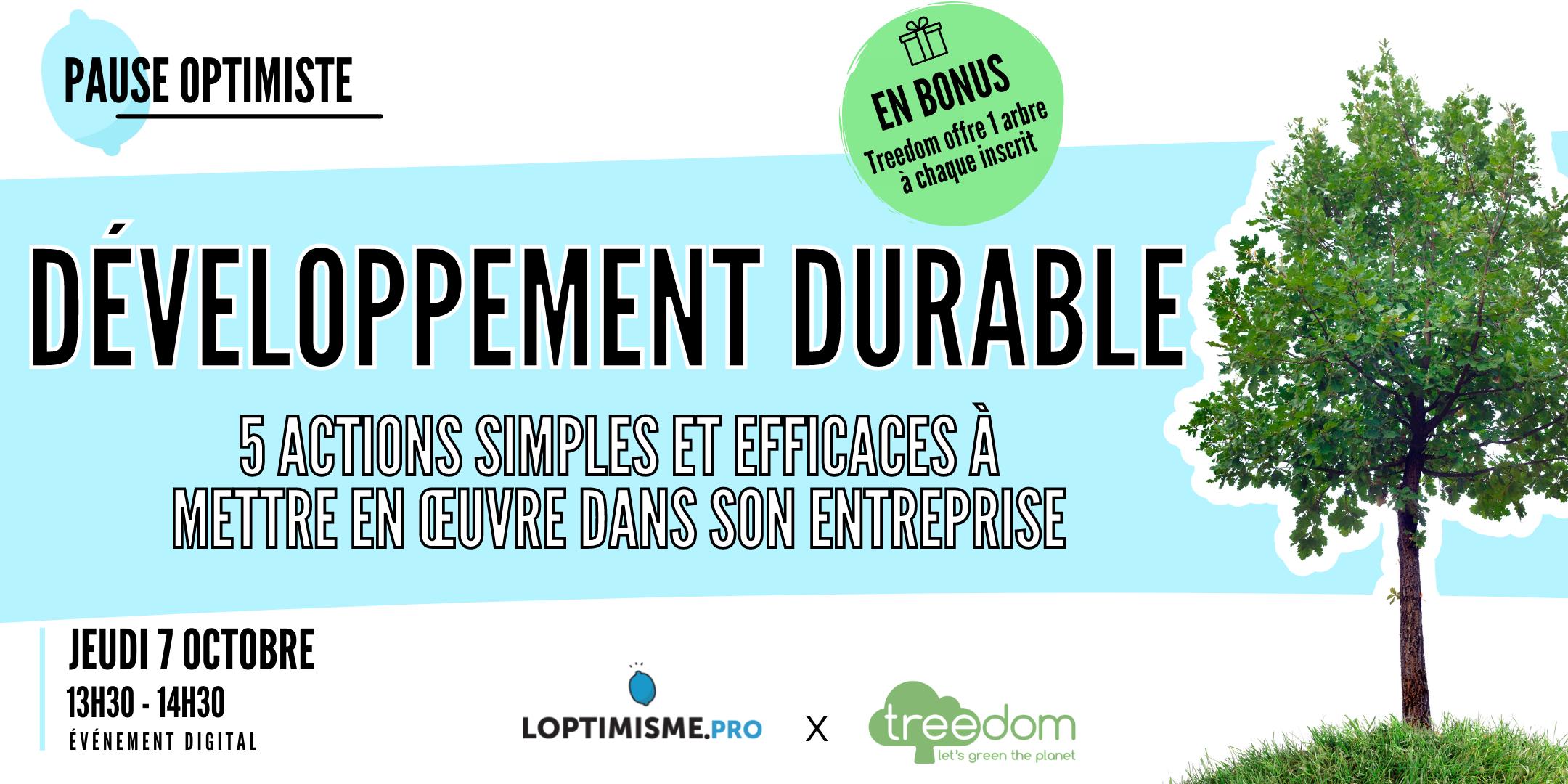 Pause optimiste Developpement durable treedom 07.10.21