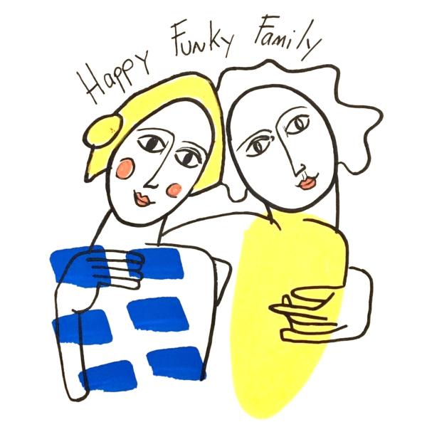Happy funky family